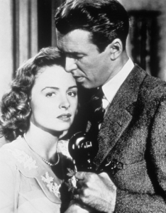 Donna Reed and Jimmy Steward