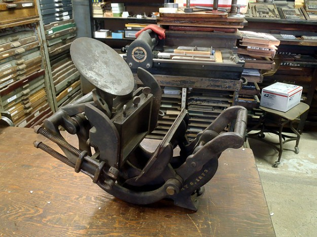 Old style Platen Printing Press